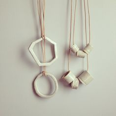 Ceramic jewelry by L.e. Ross