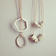 Ceramic jewelry by L.e. Ross