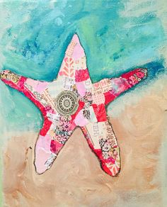 Sea Star Collage by Whimsyville365 on Etsy