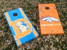 Cornhole Game by Colorado Joes Denver Broncos Classic Distressed Finish on Etsy, $225.00