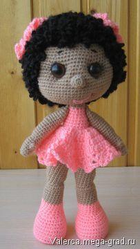 Маленькая куколка связанная крючком - вязание и вышивка, плетение, авторская кукла. МегаГрад - портал авторской ручной работы
