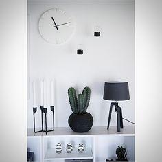 Sort/hvid med kaktus @fornydinbolig Design, Home Decor, Modern, Cactus, Decoration Home, Room Decor, Interior Decorating