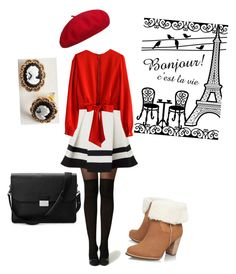 """france"" by benny-2199 on Polyvore featuring Aspinal of London, Lipsy, Chicwish and UGG Australia"