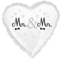 "18"" Mr. & Mr. Gay Wedding Balloon."