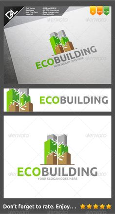 Eco Building — Vector EPS #prudent #realty • Available here → https://graphicriver.net/item/eco-building/8231962?ref=pxcr