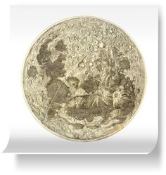 Prints of Map of the Moon by The British Library (600mm x 600mm) | Shop | Surface View
