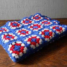 patriotic colors for granny squares quilt