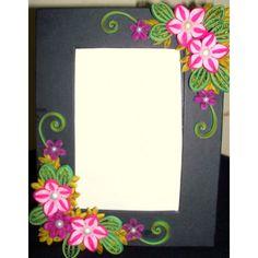 Floral Paper Quilled Design 2 Photo Frame