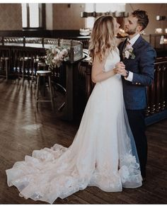 """To love her is to dance to whatever music her heart is playing."" #TILLYgown ❤️⁠ ⁠Salon: @mansionhillbridal⁠ Photograph by: @nicole_lee_photography Ombre Wedding Dress, Wedding Dress Bustle, Kelly Faetanini Wedding Dresses, Wedding Ceremony, Our Wedding, Maid Of Honor, Wedding Styles, Ball Gowns, Bridesmaid"