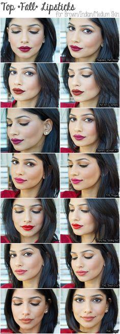 Top 7 lipsticks for brown/indian/medium skin tones