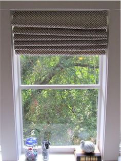 DIY Roman Shades from Mini Blinds   Simply Mrs. Edwards