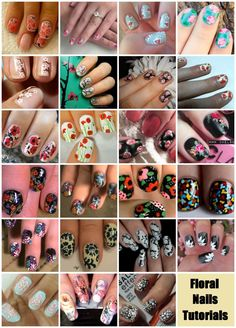 Crafty Lady Abby: NAILS: Floral Nails Tutorials