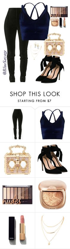 """🌹"" by bluesavage ❤ liked on Polyvore featuring Balmain, Miss Selfridge, Dolce&Gabbana, Gianvito Rossi, Chanel and BillyTheTree"