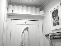 Above Door Toilet Paper Storage