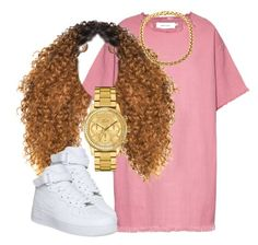 """."" by trillest-queen ❤ liked on Polyvore featuring Marques'Almeida, NIKE and Lacoste"