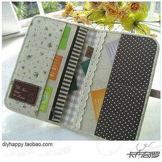 I wanna sew a beautiful organizer/wallet just like this!