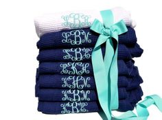 Monogrammed Set of 8 Robes  Personalized by SomethingYouGifts, $279.60