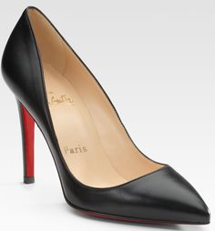 """Red-Haired Rihanna in Christian Louboutin """"Lucifer"""" Bow Stilettos"""