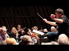 """Rehearsing """"Elijah"""" in Luxembourg: With anticipation of the following week's performances of Mendelssohn's great oratorio """"Elijah"""" in New York, Alan Gilbert takes advantage of a free morning in Luxembourg to rehearse the work with the New York Philharmonic. Nov, 2010"""
