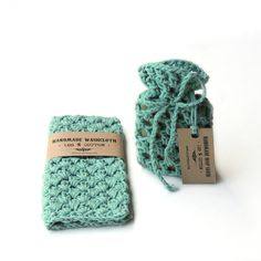 Gift for men, men gift set, stocking stuffer, christmas gift, cotton washcloth , soap saver, vegan soap, crochet wash cloth