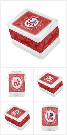 1 LOVE Flags Igloo Ice Chests and Coolers