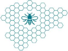 The sybol of MANCHESTER - The 'Manchester Bee' - Manchester Enterprise Centre - Manchester Business School - The University of Manchester University Of Manchester, University Logo, Bee Tattoo, Business School, First Tattoo, Software Development, Cool Tattoos, Centre, Beekeeping