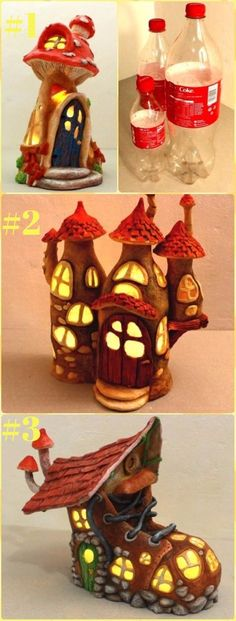 DIY Plastic Bottle Fairy House Lights Tutorial - DIY Fairy Light Projects & Instructions