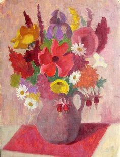 stilllifequickheart:  Alison Rehfisch Pink Still Life 1950