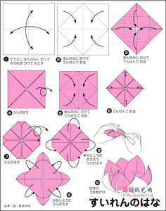 Immagine di http://www.how-to-origami.com/wp-content/uploads/2012/02/origami-lotus-flowers-b.gif.