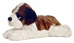 12 Aurora Plush Puppy Dog Saint Bernard Meister Flopsie Stuffed Animal Toy New | eBay
