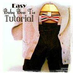 Rae Gun Ramblings: Tutorial: Quick Little Man Bow Tie
