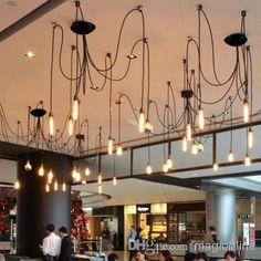 Wholesale 10 Lights - Buy Via EMS 220V-240V 40W Creative Pendant Lights with 10 Edison Bulbs Vintage Style for Club Bar Or Restaurant Lamps, $158.33 | DHgate