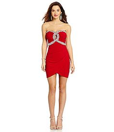 B Darlin Illusion HalterNeckline Party Dress #Dillards   My Style ...