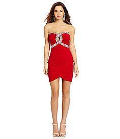Teeze Me Lace Bodice Tea Length Dress Dillards  The Style of ...