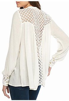 Free People The Best Button Down Shirt | Free people, Lace inset ...
