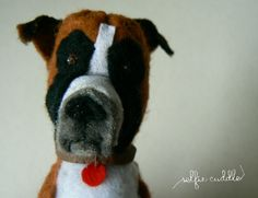 personalised handmade dolls, fabric dolls, animal doll, pet, head detail