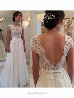 Chiffon A-line Scoop Neck Floor-length Appliques Lace Prom dresses