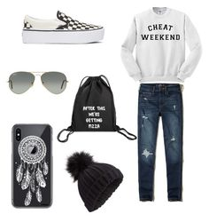 """""""Untitled #89"""" by omaimamassher on Polyvore featuring Hollister Co., Miss Selfridge, Revé, Vans and Ray-Ban"""