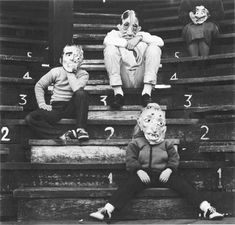 Ralph Eugene Meatyard - photographer from 60s and 70s, used masks and dolls in family and friend portraits.