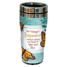 TreeFree Greetings sg23466 Inspiring Monarch Butterflies by Robin Pickens Sip N Go Stainless Steel Tumbler 16Ounce ** Be sure to check out this awesome product.