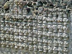 Tzompantli (Aztecs) in Mexico City's Templo Mayor #skull #art