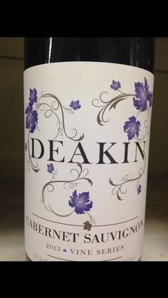 Decoration on wine bottle- leave and vines