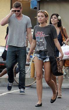 Miley Cyrus in One Teaspoon shorts
