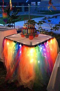 Rainbow Brite Table