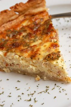 Quiche Lorraine....mmm..love this.