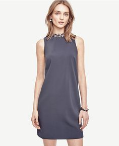 Primary Image of Crystal Collar Shift Dress