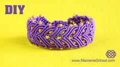 Macrame Laurel Leaf Bracelet Tutorial #Bracelet #Tutorial