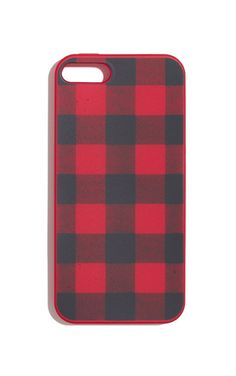 This rubber iPhone case makes a statement in festive buffalo plaid.