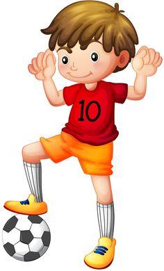 Soccer Boy - clip art