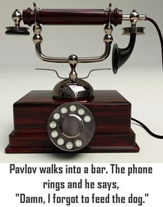 Pavlov joke...
